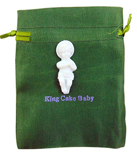 King Cake Baby Jesus Figurine Mardi Gras Mini Figure with Gift Bag