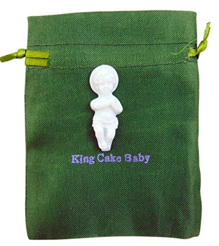 Westmon Works King Cake Baby Jesus Figurine Mardi Gras Mini Figure with Gift Bag
