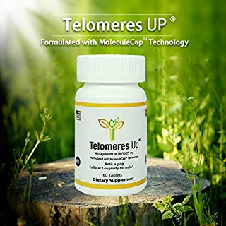 Telomeres Up with 98% Astragaloside IV-Tripled Absorption, USA Manufactured (GMP) Anti-Aging Supplement