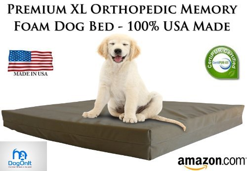Pet Support Systems Orthopedic Memory Foam Dog Beds - Eco Friendly, Hypoallergenic and Made in The...
