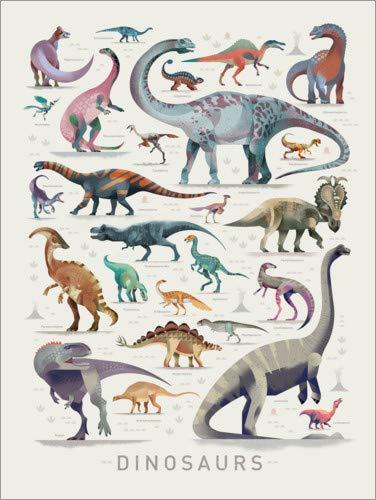 Poster 30 x 40 cm: Dinosaurier (Englisch) von Dieter Braun - hochwertiger Kunstdruck, neues Kunstposter