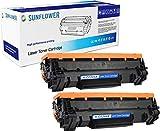Sunflower Inks – Cartucho de toner compatible para usar en lugar de HP 44A CF244A CF244AC 092981 (Negro pack de 2)