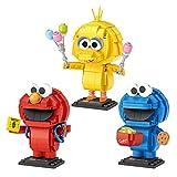 LOZ Juego de figuras de monstruo de Sésamo Street Personajes Elmo & Big Bird & Cookie (ladrillos de construcción 707 piezas) Juguete decorativo y coleccionable divertido para niños y adultos