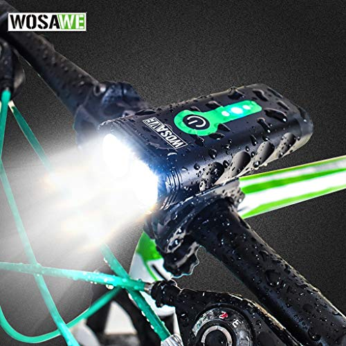 Zphy USB-oplaadbare fietsverlichtingsset 600 lumen fietsverlichting vooraan fiets koplamp mountainbike verlichting voor nachtritten waterdicht IP67 USB-fietsverlichting