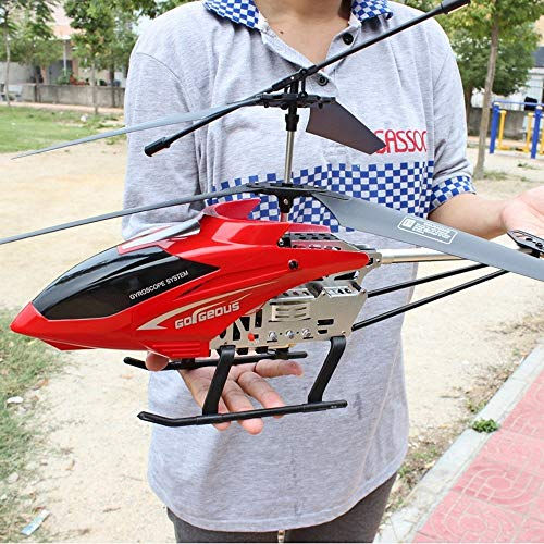 Ycco Hobby RC Plane Remote Control Helicopter 3.5 Channel 68cm Length Hobby RC Radio Plane Drone Plane Remote Control Mini RC Flying Helicopter Children Christmas Large Helicopter (Red)