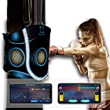 Smart Boxing Punch Pad Kick Pad with Tracker and Analysis APP Durable for Fitness,MMA, Karate or Kung Fu Training,Multiple Modes Also Fun for Kids (Black)