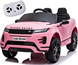 ruisi Kids Ride-On Car 12V 2-Seater Land Rover Ride-On Double Door Car, Parent Remote Control, MP3 Player, LED Lights, Plastic seat, Suitable for Boys and Girls 3-8 Years Old