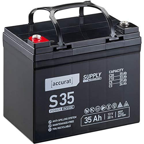 Accurat 12V 35Ah Blei-Akku AGM Blei-Batterie Zyklenfest Supply-Serie VRLA Versorgungsbatterie S35 (wartungsfrei)