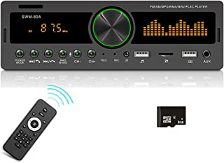 Dual USB Single Din Car Stereo Receiver, Push to Talk Assistant, Bluetooth Audio/Hands-Free Calling, Support APP Vehicle L... photo