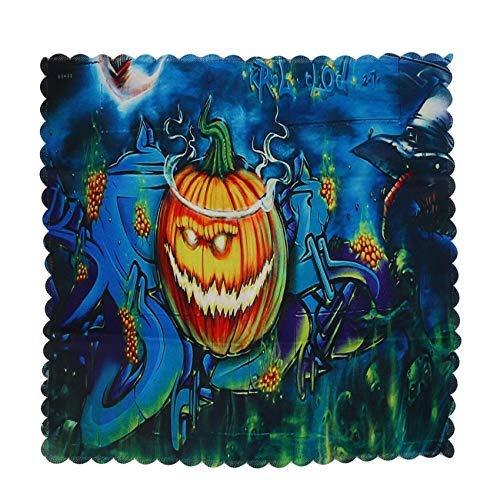 WEIHEEE Kürbis Muster Stoff Tischdecke, Halloween Horror Tischdecke Home Restaurant Festival Supplies,60 cm * 60 cm