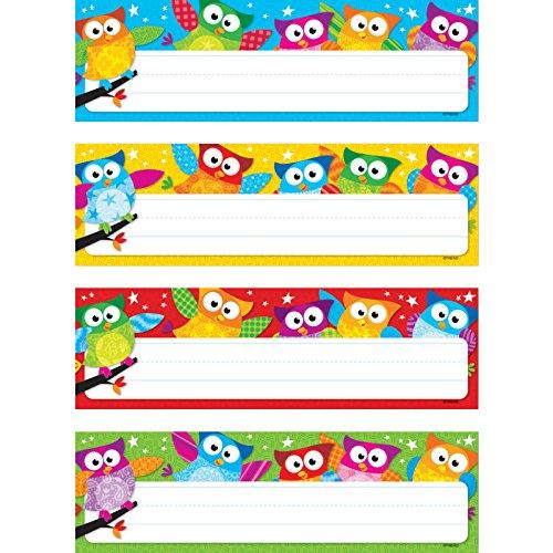 TREND enterprises, Inc. Owl-Stars! Desk Toppers Name Plates VAR. Pk, 32 ct