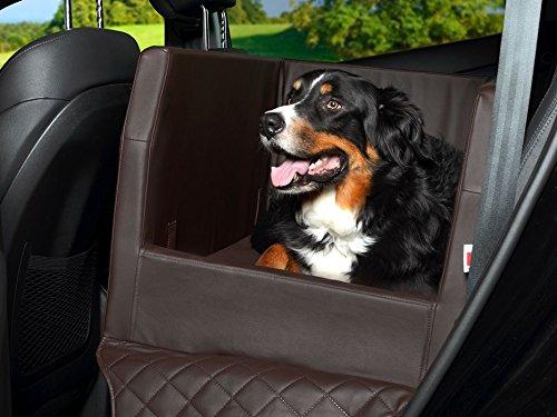 PadsForAll Auto Hundebett, Rücksitz Schutzdecke, Autoschondecke, auch in visco elastisch   braun