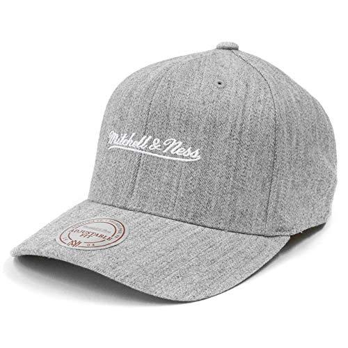 Mitchell & Ness Brand Logo 110 Curved Snapback (Grey / White)