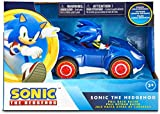 NKOK Sonic The Hedgehog All Stars Racing Pull Back Action, Blue, Small