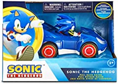 Sonic is a video game legend and features some of the most recognizable characters in gaming history! Sonic is the world's fastest Hedgehog, capable of running at the speed of sound (768mph)! He drives the Speed Star built by Tails. ull the Speed Sta...