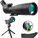 ESSLNB Telescopio Terrestre 20-60X80 Catalejo BAK4 Prism con Trípode Ajustable, Adaptador Se Teléfono y Bolsa para Observación De Aves