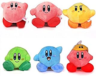 Star Kirby Plush Strap 6pcs Star Doll Peluches Cute Soft Anime Collection Toy