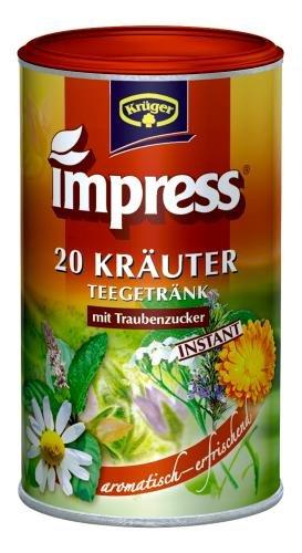 Impress 20 Kräuter Teegetränk Instant, 2er Pack (2 x 200 g Dose)