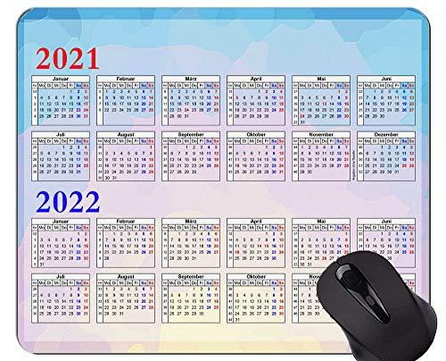 Yanteng 2021-2022 Calendar Golden Premium Gaming Mouse Pad Custom, Abstract Polin Alfombrilla de Goma Antideslizante