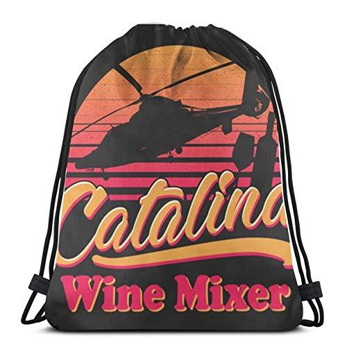 ewretery Drawstring Bags C-Ata-Lina Wi-Ne Mix-Er Unisex Drawstring Backpack Sports Bag Rope Bag Big Bag Drawstring Tote Bag Gym Backpack In Bulk