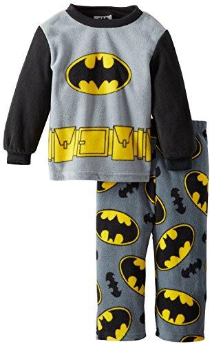 Batman niños Gris Impreso 2pieza Micro Forro Polar Pantalones Pijama Conjunto