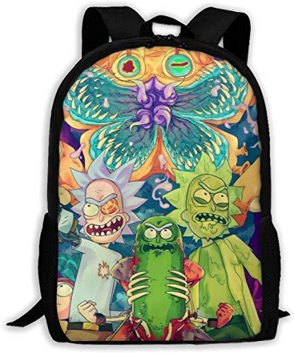 Gsixgoods Mochila Rick Morty School Backpacks for Kids Boys Girls Lightweight Bookbags