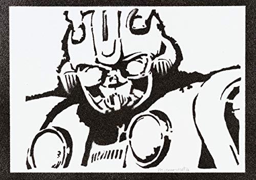 Transformers Poster Bumblebee Plakat Handmade Graffiti Street Art - Artwork