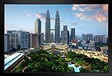 Poster Gießerei Kuala Lumpur City Skyline Petronas Twin