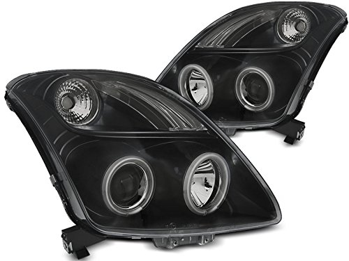 Shop Import koplamp Swift 05-10 Angel Eyes CCFL zwart (I06)