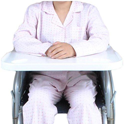 MEYLEE Universal Typ Patienten Rollstuhl ABS Kunststoff Stahl Tischplatte/Tisch Mahlzeit Tisch Zubehör/Weiß, 58 × 4,5 × 62,5 cm