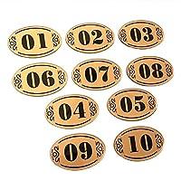 (20パック)Aspireアクリルナンバーサイン ナンバータグ 8.13cm L x 5.08cm W - ゴールド/ブラック - 21to40