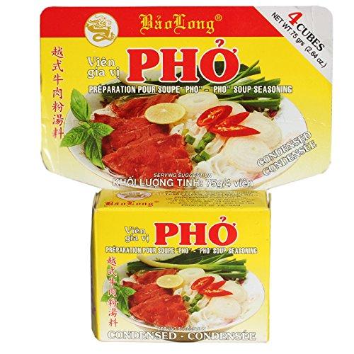 Pho Bo Bouillonwürfel (Vietnamesische Würzmischung für Reisnudelsuppe mit Rind) 3 x 75 g