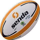 Senda Apex - Balón de Rugby, Certificado de Comercio Justo, Color Naranja/Blanco, tamaño 5 (Edades 15 y más)