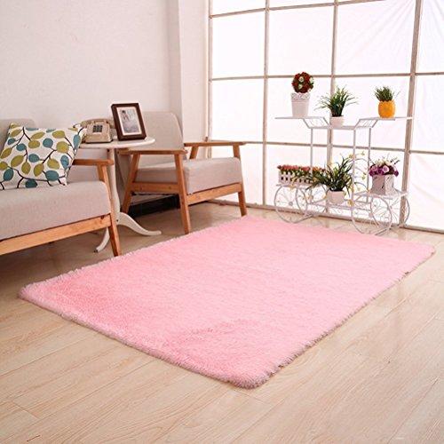 Generic 0270 Super Soft Modern Shag Area Rug, 4′ x 5′, Pink