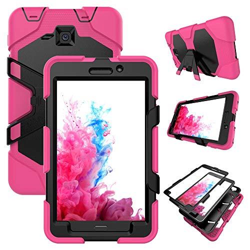 HHF Pad Accesorios para Samsung Galaxy Tab A A6 7.0 Pulgadas, Funda de Stand de Silicon Kickstand para Samsung Galaxy Tab A A6 7.0 Inch 2016 T280 T285 SM-T280 SM-T285 (Color : RO)