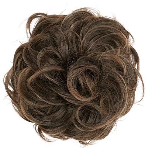PRETTYSHOP XL Hairpiece Scrunchy Updo Bridal Hairstyles Scrunchie Voluminous Curly Messy Bun Brown Mix G23E