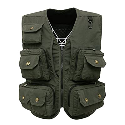 Fly Fishing Photography Climbing Vest with 13 Pockets made with Lightweight Mesh Fabric for Travelers, Sports, Hiking, Bird Watching, River Guide Adventures and Hunting by luxurysmart