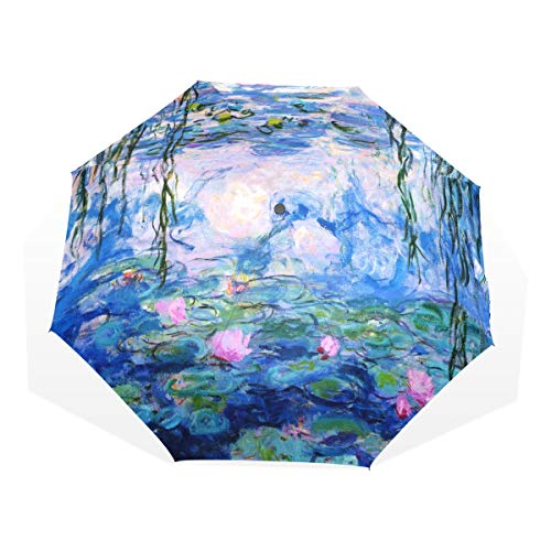Double Layer Inverted Inverted Umbrella Is Light And Sturdy Abstract Hand Drawn Floral Pattern Lily Reverse Umbrella And Windproof Umbrella Edge Nigh