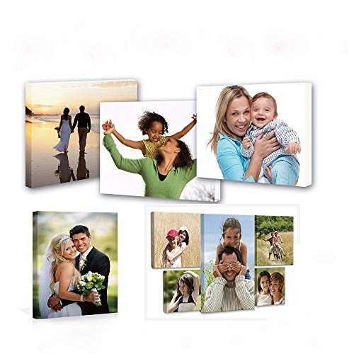 Custom Your Photos On Canvas Prints ,Personalized Canvas Pictures Wall Art Framed (8x8 in)