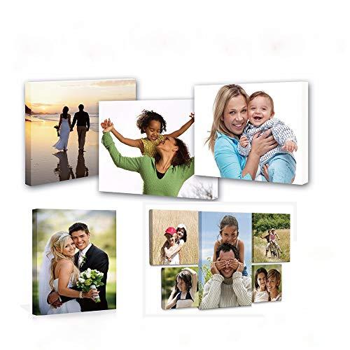 Personalizza le tue foto su tela, stampa artistica su tela personalizzata, con cornice (20x20cm)