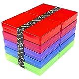 WestonBoxes Aufbewahrungsboxen aus Kunststoff, A4, mehrfarbig, 10 Stück