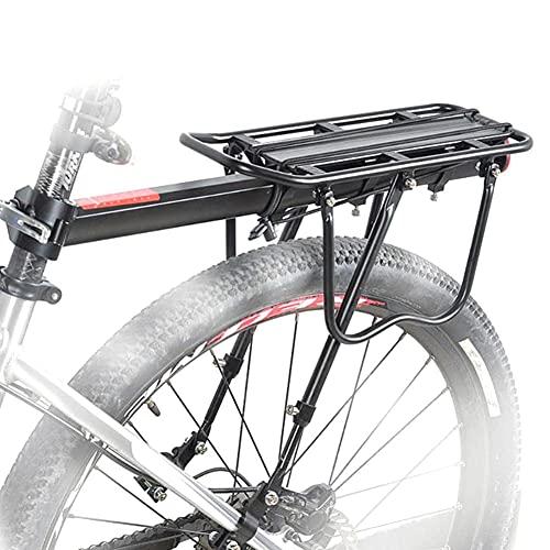 Estante De La Bici, Cicloturismo Portador W/Logo Reflectante, Montado En El Bastidor De Pesado Superior Y Cargas Laterales, Altura Ajustable para Bicicleta De Montaña Bicicleta