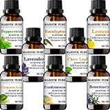 MAJESTIC PURE Essential Oils Set for Aromatherapy and Diffuser -Natural Therapeutic Grade Lavender,...