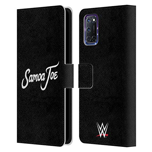 Head Case Designs Officially Licensed WWE Logo Samoa Joe Leather Book Wallet Case Cover Compatible with Oppo A72