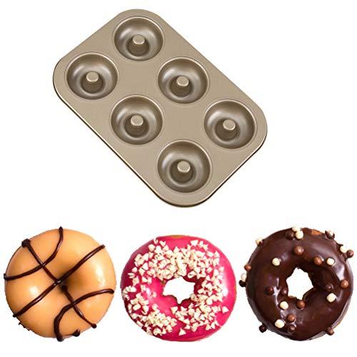 MIFASA Donut-Backform 6-Kavitäten-Antihaft-Donut-Backblech zum Backen köstlicher Donuts