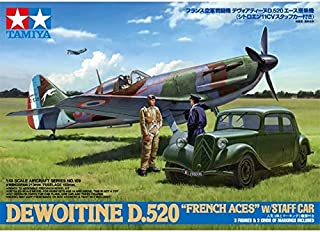 Part & Accessories Tamiya 61109 Dewoitine D.520 French Aces With Staff Car 11cv 1/48 Kit