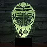 OEWFM Lumière de nuit 3D 7 changement de couleur Art Décoration casque rugby Lampe De Table Cadeau Enfant Bébé Anniversaire Lit Chambre Décoration