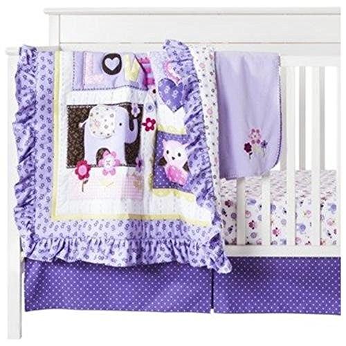 Circo Love N' Lilacs 4pc Baby Girl Crib Bedding Set by C