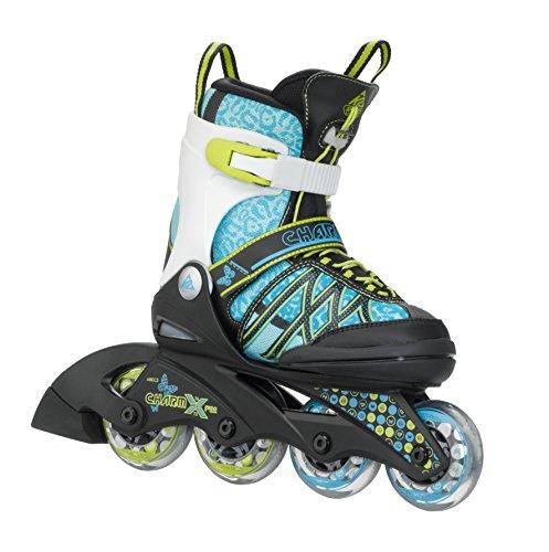 K2 Kinder Inline Skate Charm X Pro, türkis, M, 3050209.1.1