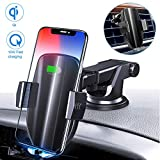 Moskee Wireless Car Charger Mount,Automatic Clamping,Qi 10W 7.5W Fast Charging,Air Vent Phone Holder...